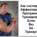 План тренировок по бодибилдингу