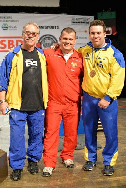 С бронзовым призером чемпионатов мира и Европы шведом Стефаном Ямрозом и его отцом