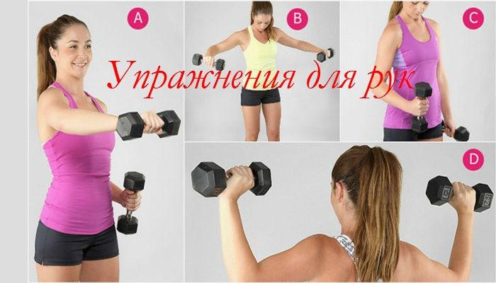 Упражнения для рук с гантелями для девушек в домашних условиях видео