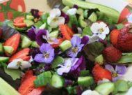 пища с цветами