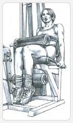 выполнение упражнения сгибание ног