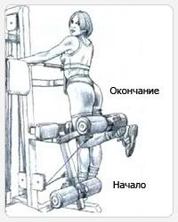 выполнение упражнения сгибание одной ноги