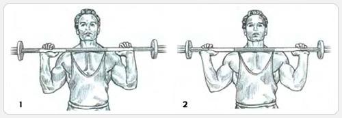 Варианты выполнения упражнения жим штанги с груди сидя
