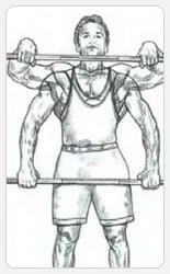 Выполнение упражнения - плечевая передняя протяжка