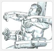 Выполнение упражнения - подъемы рук в стороны на тренажере
