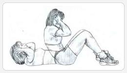 Выполнение упражнения подъемы туловища