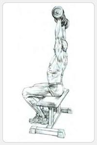 Жим гантелей с поворотами запястий - окончание упражнения