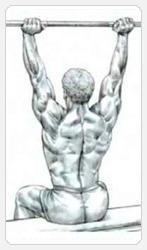 Жим штанги с груди сидя - окончание упражнения