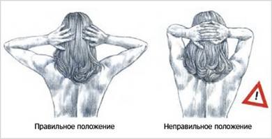 Как держать кисти и локти выполняя упражнение