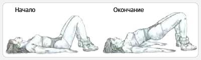 Мостик лежа - выполнение упражнения