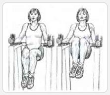 Подъемы коленей в упоре - выполнение упражнения