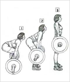 Становая тяга - выполнение упражнения