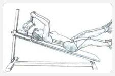 выполнение упражнения с ограниченной амплитудой поднятия ног