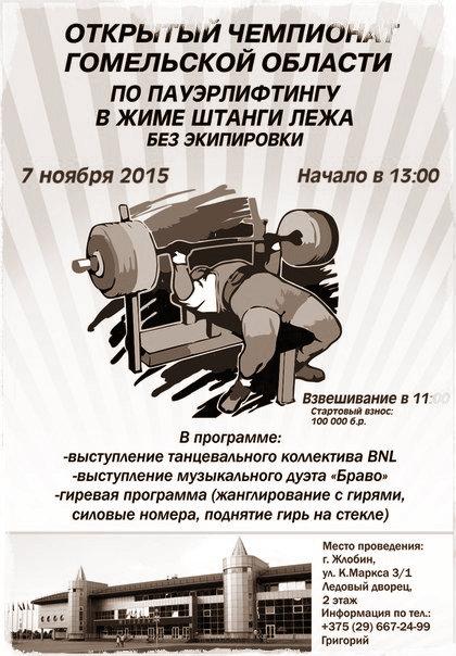 Открытый чемпионат Гомельской области по жиму лежа
