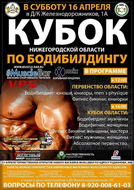 Кубок Нижегородской области по бодибилдингу - 2016