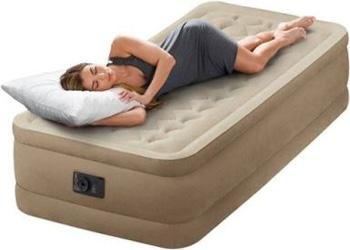 Односпальные надувные кровати с насосом Intex